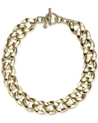 Michael Kors | Metallic Gold-Tone Chain Statement Necklace | Lyst