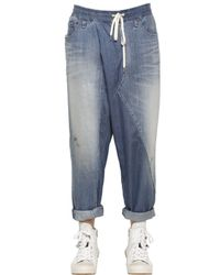 Miharayasuhiro | Blue Baggy Washed Light Cotton Denim Jeans for Men | Lyst
