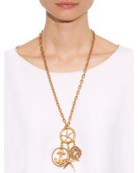 Oscar de la Renta - Metallic Nautical Gold-Plated Pendant Necklace - Lyst