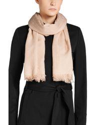 HUGO | Pink Scarf In Wool Blend: 'women-z 506' | Lyst