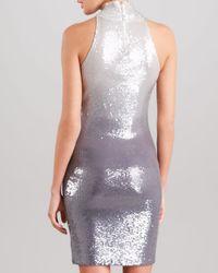 Donna Karan Metallic Ombre Sequined Cashmere Dress
