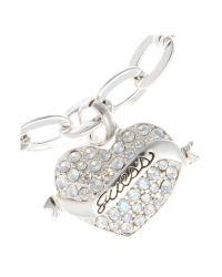 Guess - Metallic Tattoo Heart Bracelet - Lyst