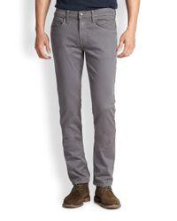 Joe's Jeans - Gray Slim-fit Twill Pants for Men - Lyst