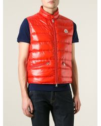 moncler red gilet