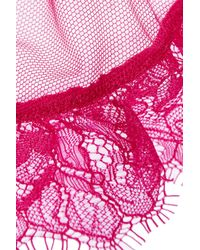 L'Agent by Agent Provocateur - Pink Idalia Lace And Stretch-Tulle Suspender Belt - Lyst