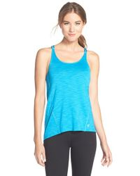 Betsey Johnson | Blue Scalloped Space Dye Tank | Lyst