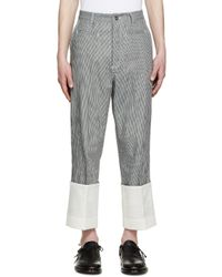 Loewe Blue Navy And White Striped Fisherman Jeans for men