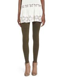 BP Gray Stretch-Cotton Leggings