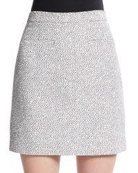 Proenza Schouler - Gray Tweed Mini Skirt - Lyst