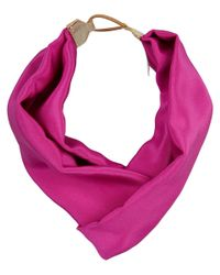 Jennifer Behr Pink Matte Silk Turban Headband