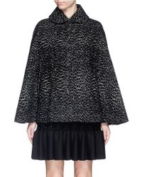 Alaïa | Black 'asteroide' Velour Knit Cape | Lyst