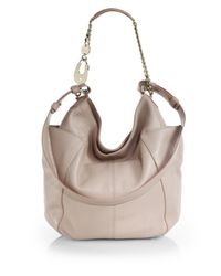 Jimmy Choo | Natural Anna Glossy Shoulder Bag | Lyst