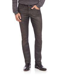 John Varvatos | Gray Low Rise Slim-leg Grey Jeans for Men | Lyst