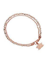 Astley Clarke | Metallic Moonstone Lotus Friendship Bracelet | Lyst