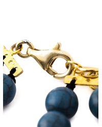 Katerina Psoma - Brown Multi Beaded Row Ceramic Necklace - Lyst