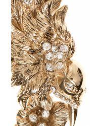 Marchesa | Metallic Bird Button Earrings | Lyst