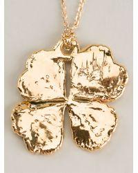 Aurelie Bidermann - Metallic Mini Clover Necklace - Lyst