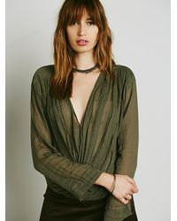 Free People | Green Fp One Womens Fp One Textured Solid Crop Wrap | Lyst