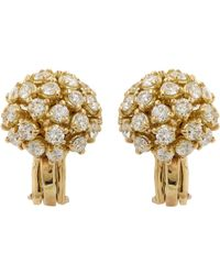 Sidney Garber | Metallic Diamond & Gold Starburst Studs | Lyst