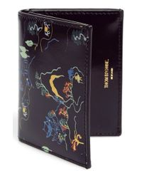 Thom Browne - Black Printed Leather Bifold Wallet for Men - Lyst