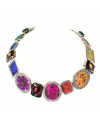 Bijoux De Famille | Multicolor Tutti Frutti Gems Choker Necklace | Lyst