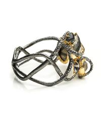 Alexis Bittar Metallic Dark Phoenix Asymmetrical Vine Hinged Bracelet