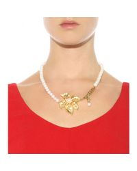 Dolce & Gabbana | Metallic Embellished Pearl Necklace | Lyst