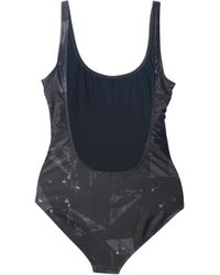 We Are Handsome Black Horse Print Swimsuit