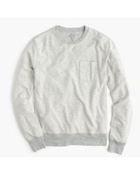 J.Crew | Gray Tall Reverse Terry Sweatshirt for Men | Lyst