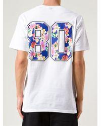 Stussy White S Flowers Tshirt for men