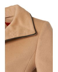 HUGO | Natural Coat In A New-wool Blend With Cashmere: 'maluba' | Lyst