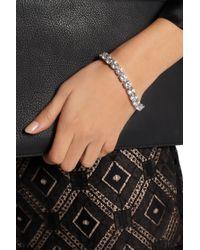 Kenneth Jay Lane Metallic Rhodium-Plated Cubic Zirconia Bracelet