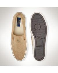 Polo Ralph Lauren - Brown Burlap Slip-on Sneaker for Men - Lyst