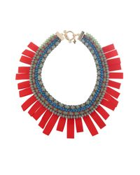 Weekend by Maxmara | Red Ginevra Rope And Beads Necklace | Lyst