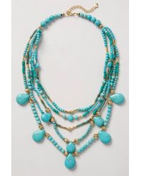 Anthropologie - Metallic Deluge Layered Necklace - Lyst