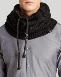 Bickley + Mitchell Black Basic Knit Snood for men