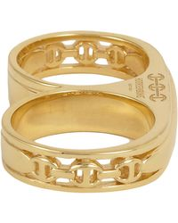 Hoorsenbuhs | Yellow Women's Double Barrel Ring | Lyst