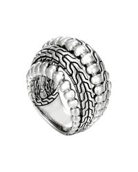 John Hardy Metallic Classic Chain Silver Dome Ring