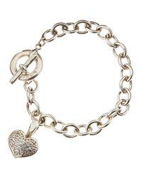 Lagos | Metallic Pave Diamond Heart Toggle Bracelet | Lyst