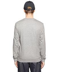 EA7 Gray Logo Printed Cotton Sweatshirt for men