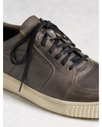 John Varvatos - Brown Bedford Low Top for Men - Lyst
