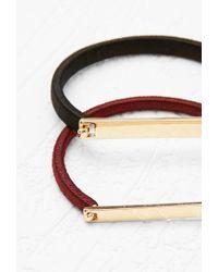 Forever 21 | Purple Threaded Bracelet Set | Lyst