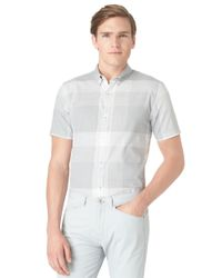 Calvin Klein | Gray Modern Fit Exploded Plaid Sportshirt for Men | Lyst