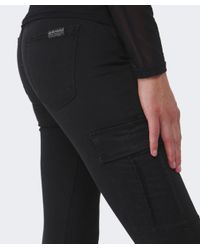 7 For All Mankind - Black Skinny Cargo Pants - Lyst