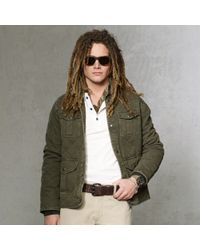 Polo Ralph Lauren | Green Quilted Jersey Utility Jacket for Men | Lyst