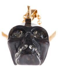 Alexander McQueen Metallic Punk Skull Necklace