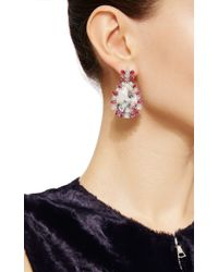 Nina Runsdorf - Multicolor Tourmaline And Ruby Oval Earrings - Lyst