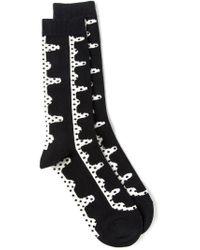 Henrik Vibskov - Black Dotted Socks for Men - Lyst