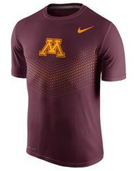 Nike - Purple Men's Minnesota Golden Gophers Legend Sideline T-shirt for Men - Lyst
