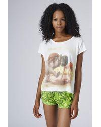 TOPSHOP Womens Jungle Book Print Pyjama Set Green